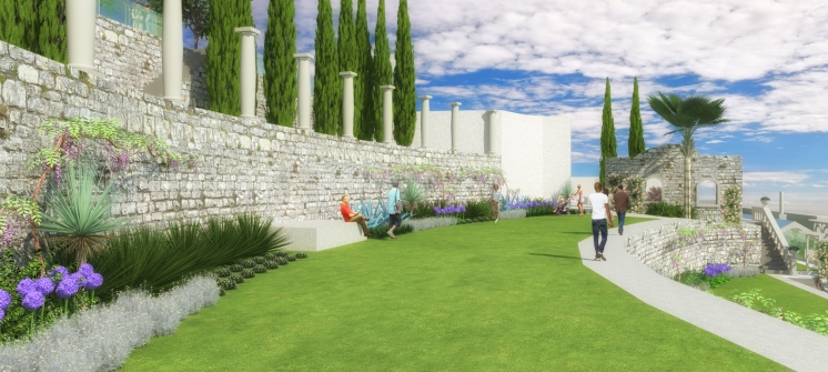 Uređena povijesna terasa - 3D vizualizacija